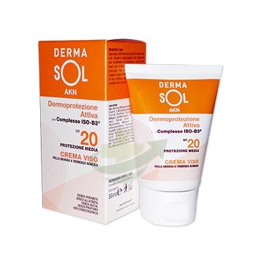 Dermasol Linea Protezione Solare SPF20 AKN Crema Viso Pelli Grasse 50 ml
