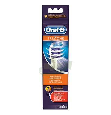 Oral-B Linea Igiene Dentale Quotidiana TriZone 3 Spazzolini di Ricambio