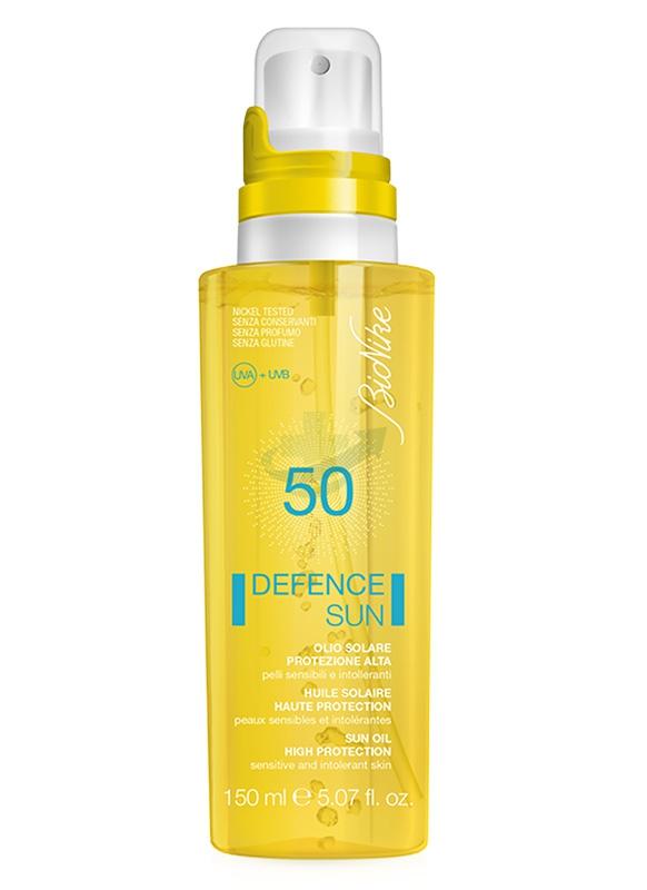 BioNike Linea Defence Sun SPF50 Olio Spray Corpo Pelli Sensibili 150 ml