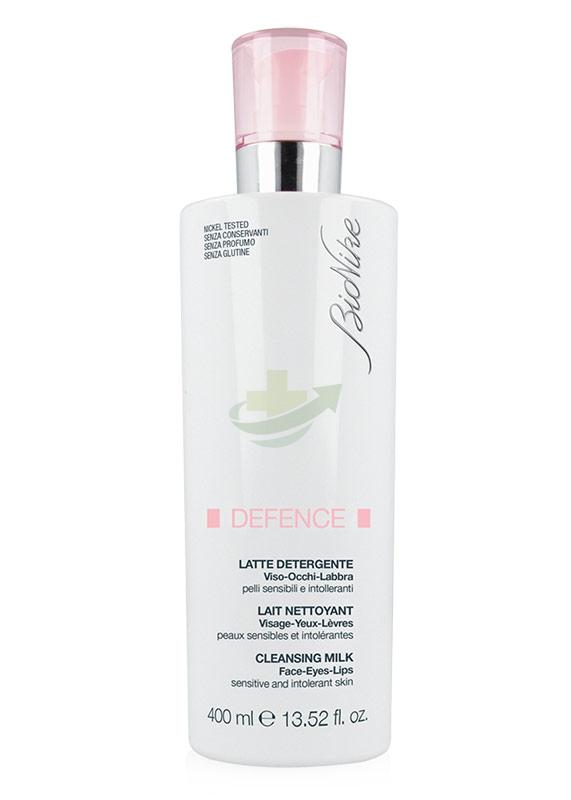 BioNike Linea Defence Detersione Latte Detergente Viso Occhi Labbra 400 ml