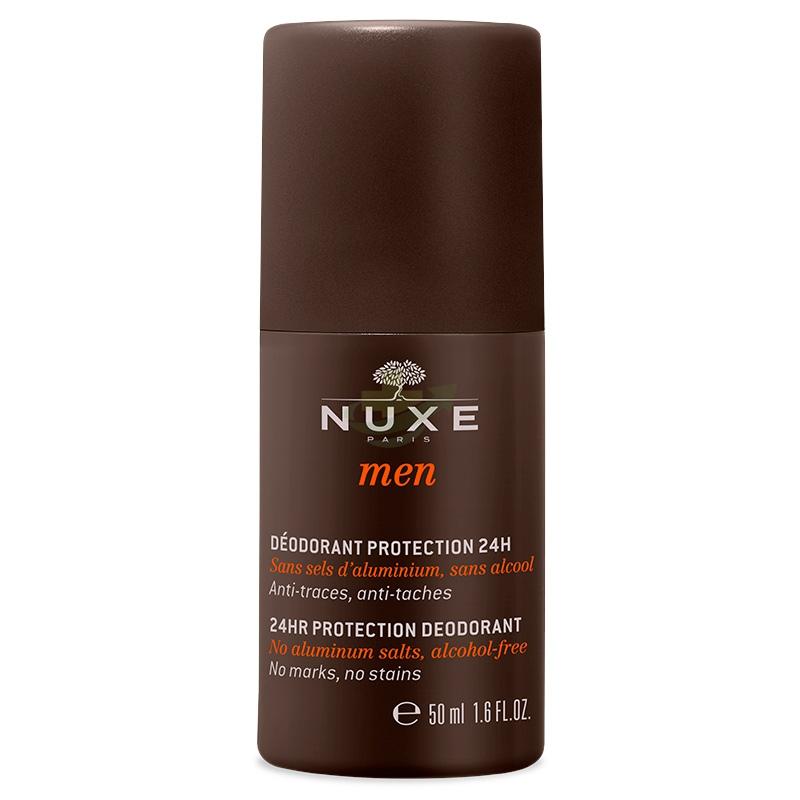 Nuxe Linea Men Deodorant Deodorante 24H Uomo Senza Sali d'Alluminio Roll-on 50ml