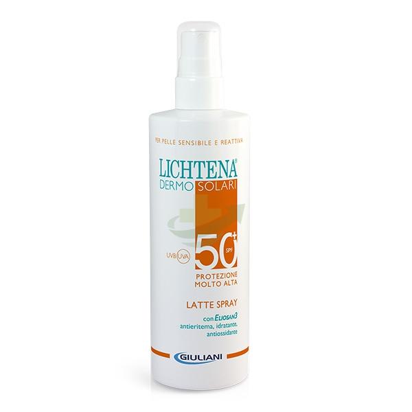 Lichtena Linea Dermosolari SPF50+ Latte Spray Pelli Sensibili Irritabili 200 ml