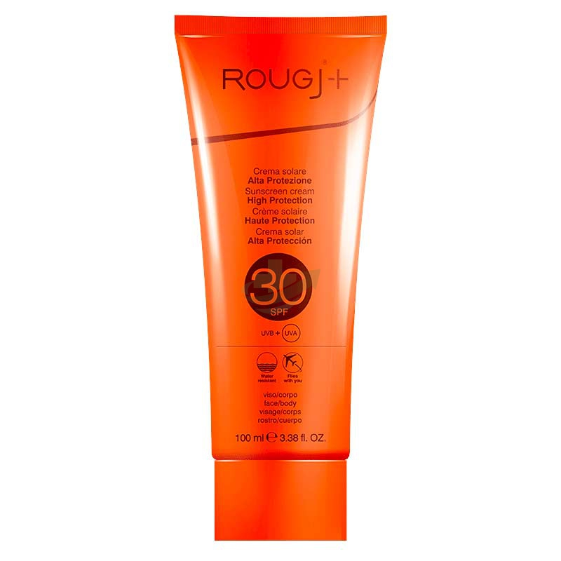 Rougj Linea Solare SPF30 Protezione Solare Molto Bassa Crema Viso e Corpo 100 ml