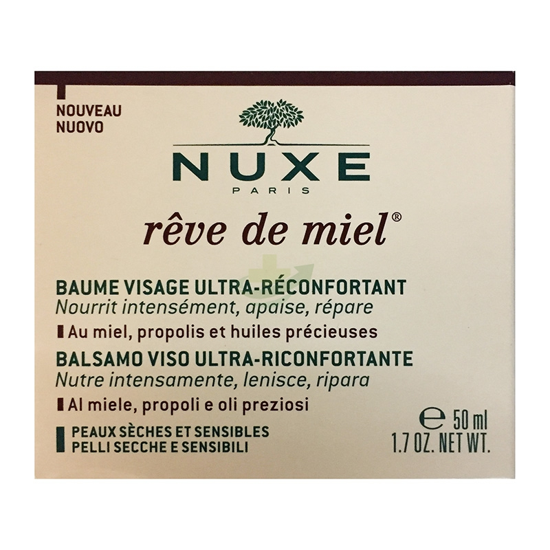 Nuxe Linea Reve de Miel Baume Visage Ultra-Reconfortant Balsamo Viso 50 ml